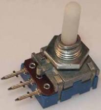 Kohlenpotentiometer PP 12, 4mm Kunststoff-Achse log. 220 k Ohm