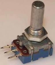Kohlenpotentiometer PP 12, 6mm Achse Metall logar, 220K Ohm