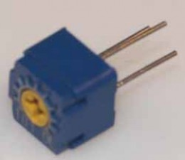 Gekapselte Cermet-Trimmpotentiometer 7mm, horizontal, 500 Ohm