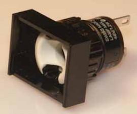 Signallampen, rechteckig, 24x18mm