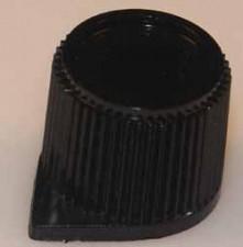 Knopf schwarz, 6mm x 15mm x 13mm