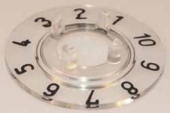 Skalenscheibe zu Knopf ⌀14.5mm, 36°, 1-10
