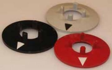 Pfeilscheibe zu Knopf ⌀14.5mm, grau