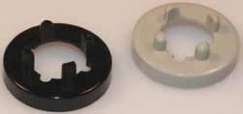 Mutterabdeckung schwarz zu Knopf ⌀14.5mm