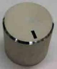 Knopf vollaluminium eloxiert, Bohrung:6mm, ⌀18mm, H:18mm