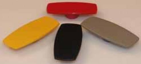 Deckel L: 24 zu Knebelknopf  D: 31 mm rot