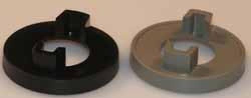 Mutterabdeckung Schwarz, D:31 mm d:28 mm.