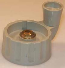 Kurbelknopf, 45mm x 24mm, grau