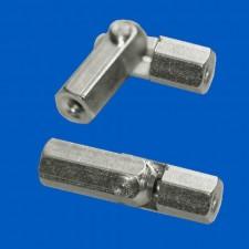 Gelenkbolzen M2.5x20, Messing, mittelschwer drehbar