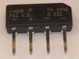 Brückengleichrichter 40 V 1.5 A SIL , Diotec
