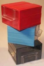 Allbox-Schubladensystem, blau, mit 1 Schublade, 120 x 124 x 80 mm