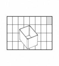 Einsätze Din A9 - 1, 39x54x46.5 mm, klar
