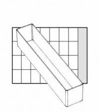 Einsätze Din A9 - 4, 39x216x46.5 mm, klar