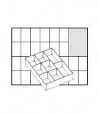 Einsätze A78 Esd, 80x110x23 mm, 8-teilig, schwarz