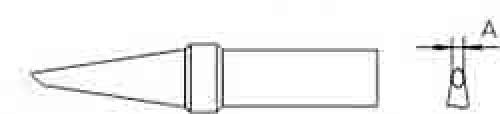 Lötspitzen Et-F, rund, abgesch. 1.6mm