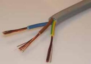 Netzkabel, Innenleiter 3 x 0.75mm², ø5.5mm, rund, weiss