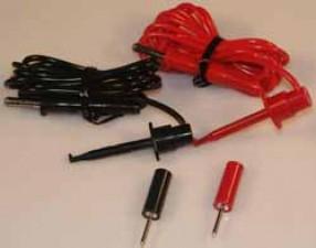 Messleitung, einseitig mit IC-Clip, 1.8m, rot-schwarz