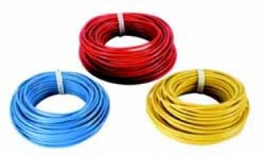 Schaltdraht mit Kunststoffisolierung (PVC), Gelb, ⌀ 0.8mm, à 100m