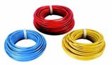 Schaltdraht mit Kunststoffisolierung (PVC), Rot, ⌀ 0.8mm, à 100m