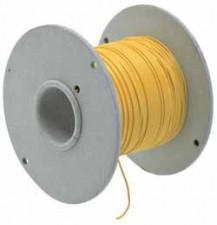 Schaltlitzen mit Kunststoffisolierung (PVC), Gelb, 0.14mm², à 200m