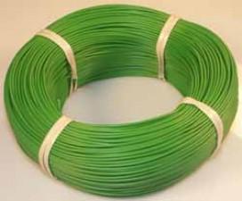 Schaltlitzen mit Kunststoffisolierung (PVC), Grün, 0.50mm², à 200m