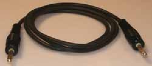 Messleitung ø4mm, Schwarz, 50cm, 1mm²