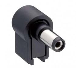 Netzgerätestecker abgewinkelt; L:24mm; D:5.5mm; d:2.1mm, NES/J 21W