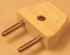 Stecker Typ 1 (6A/ 250V), weiss