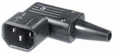 Gerätestecker abgewinkelt, 6A 250 VAC