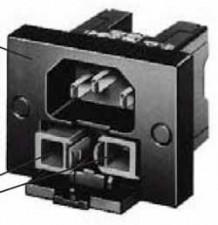 Gerätestecker mit Sicherungshalter (2fach), Lötanschluss