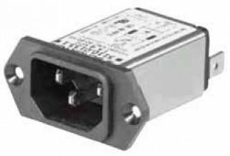 Gerätestecker mit Netzfilter 1A, 250 VAC