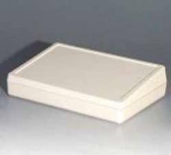 Tastatur-Pultgehäuse, grauweiss, 370 x 185 x 37.5 mm
