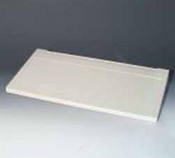 Tastatur-Pultgehäuse, grauweiss, 490 x 240 x 40 mm