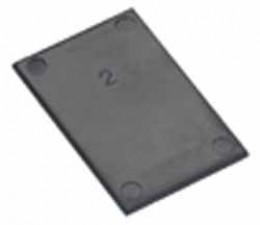 Deckplatte 25 x 25 mm