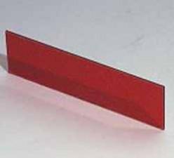 Plexiglasscheibe Rot transparent, 124.2 x 33.6 x 1.5 mm  zu Gehäuse 9500.150A / 9500.163A / 9500.166A