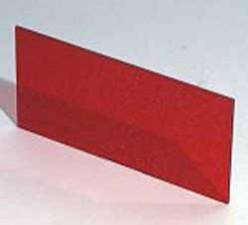 Plexiglasscheibe Rot transparent, 124.2 x 56.6 x 1.5 mm zu Gehäuse 9500.151A / 9500.164A / 9500.167A