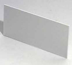 Frontplatte Alu eloxiert  124.2 x 56.6 x 1.5 mm zu Gehäuse 9500.151A / 9500.164A / 9500.167A