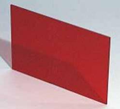 Plexiglasscheibe Rot transparent, 124.2 x 79.6 x 1.5 mm zu Gehäuse 9500.152A / 9500.165A