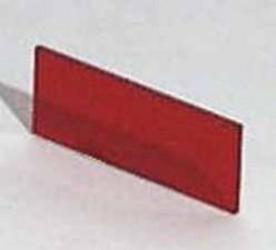 Plexiglasscheibe Rot transparent, 35.5 x 14.4 x 1mm zu Gehäuse 9500.234A