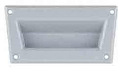Einbauschalengriff, L=91 x H=52, Kunststoff, grau