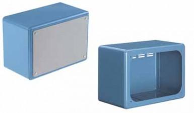 Apparate-Gehäuse blau, 212 x 150 x 300 mm