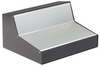 Pult-Gehäuse schwarz-schwarz 216 x 220 x 128 x 40 mm