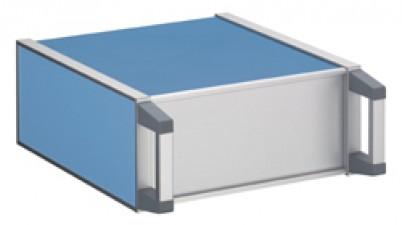 Apparate-Gehäuse, kunststoffbeschichtet, 278 x 250 x 220 mm, Blau