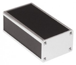 Selbstbau-Gehäuse, Stahlblech kunststoffbeschichtet, schwarz, 57 x 37 x 104 mm
