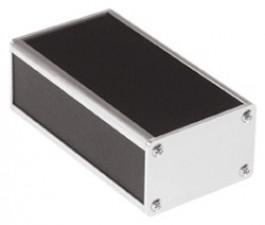 Selbstbau-Gehäuse, Stahlblech kunststoffbeschichtet, schwarz, 57 x 57 x 104 mm