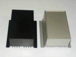 Wärmeableitgehäuse, silber (matt), 220mm