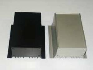 Wärmeableitgehäuse, schwarz, 220 mm