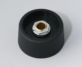 COM-KNOBS Knopf ⌀ 31, schwarz, Achsbohrung durchgehend: 6mm
