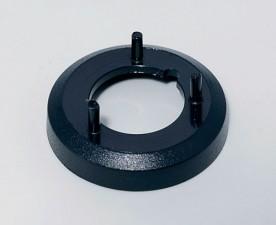 Mutterabdeckung zu Knopf ⌀16mm, schwarz ohne Strich