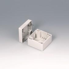 Gehäuseschalen ROBUST-BOX 80 breit, 80 x 80 x 60, lichtgrau